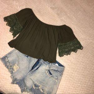 Crop top + shorts